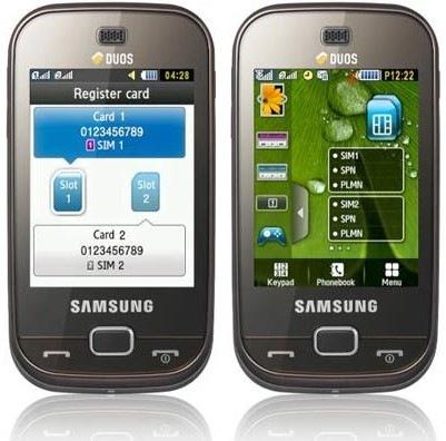 Samsung Dual Sim Touch Screen Samsung B5722 Dual Sim Mobile