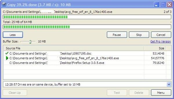 Resume xp file copy