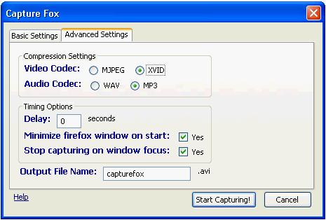 Capturefox Firefox addon : Turn Firefox Into Video Capturing Tool