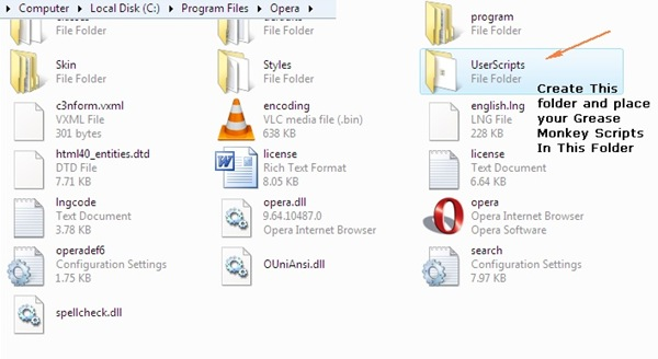 How To Use Grease Monkey Scripts(User Scripts) In Opera