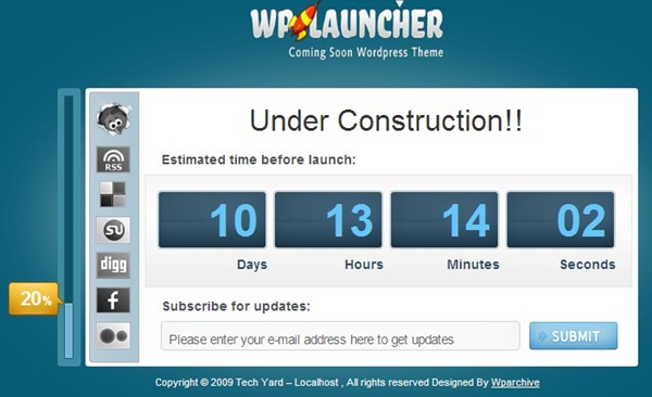 Wordpress Maintanence Mode Themes | WPLauncher