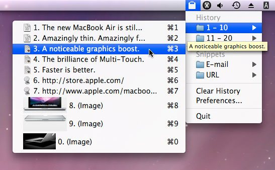 ClipMenu Mac ClipBoard Alternative