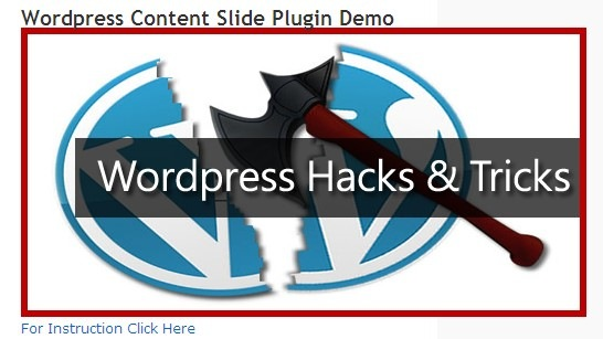Wordpress-Content-Slide-Plugin