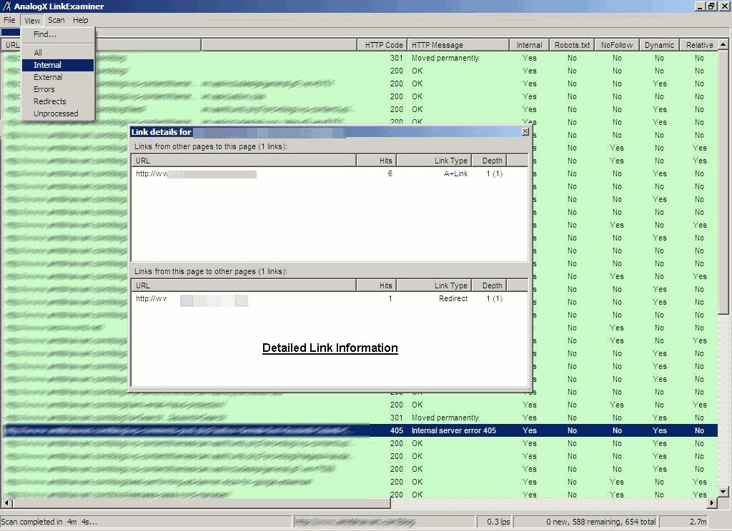 AnalogX Link Examiner