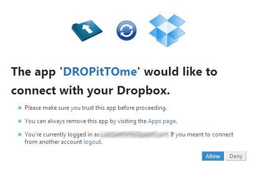 DropitTome - DropBox Connect