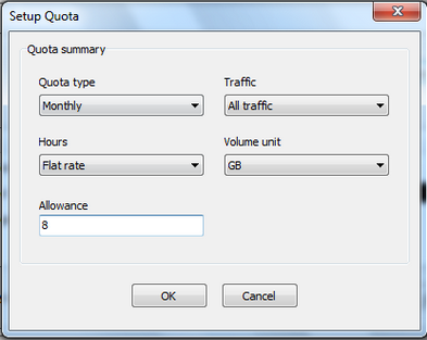 Networx Quota Setup