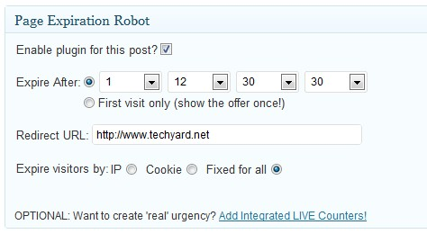 Redirect Expired Posts and Pages In WP