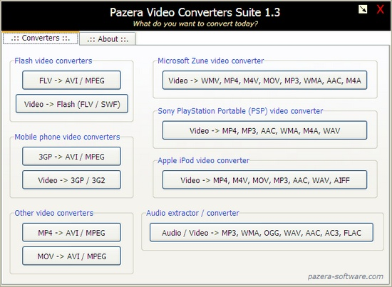 Pazera Video Converter Suite