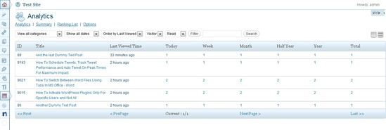 Post Views - Analytics Plugin