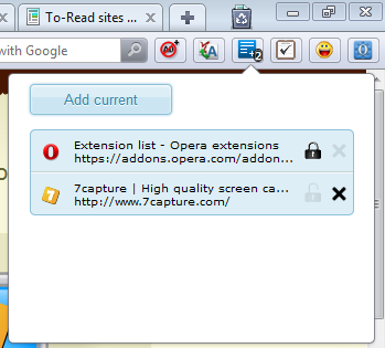To-Read Opera Addon Options