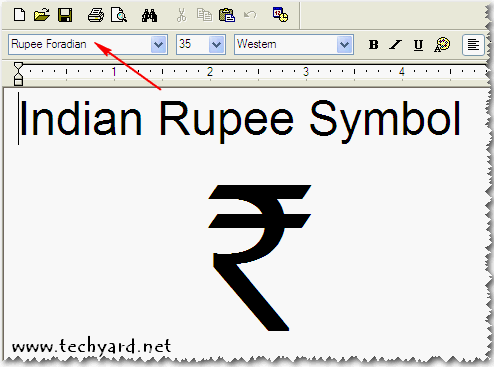 Type Insert Indian Rupee Symbol In Ms Word And Documents