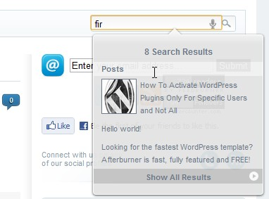 Search Light WordPress Plugin