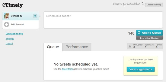 Timely - Schedule Tweets